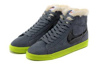 Кроссовки мужские зимние Nike Blazer / WNTR-001 (Реплика)