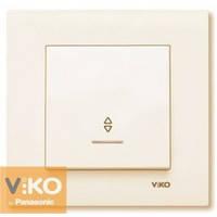 Выключатель проходной с подсветкой крем Viko (Вико) Karre (90960163)