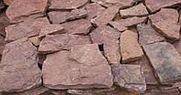Натуральный камень Песчаник красный фактурный (Дикий камень)
