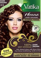 Хна для волос Dabur Vatika Henna Dark Brown темно-коричневая