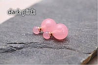 """Серьги """"Mise en Dior"""". Цвет  светло розовый, прозрачный"""
