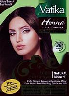 Хна для волос Dabur Vatika Henna Natural Brown коричневая