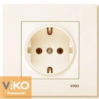 Розетка с заземлением крем Viko (Вико) Karre (90960108)