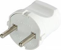 Вилка бытовая e.plug.001.10, без з/к, 10А белая