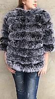 Шубка-куртка из меха мелированного песца