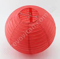 Бумажный подвесной фонарик, красный, 30 см