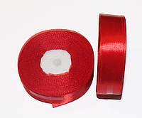 Атласная лента 2,5 см. (33 м.) Красная