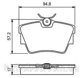 Тормозные колодки задние Рено Трафик (без датчика износа) FAW - FAW21748170