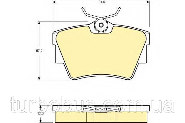 Тормозные колодки задние, Рено Трафик - RENAULT (Оригинал) - 440607091R