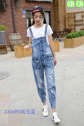 Женский джинсовый комбинезон на пуговицах , фото 2
