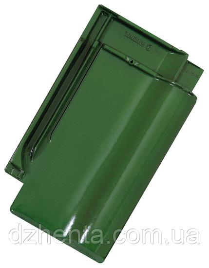 Керамическая черепица TONDACH Сулм травянисто-зеленая глазурь F421y
