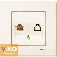 Розетка телефонная tf крем Viko (Вико) Karre (90960113)