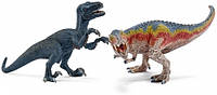 Тиранозавр и Велоцираптор, набор игрушек-фигурок, Schleich (42216)