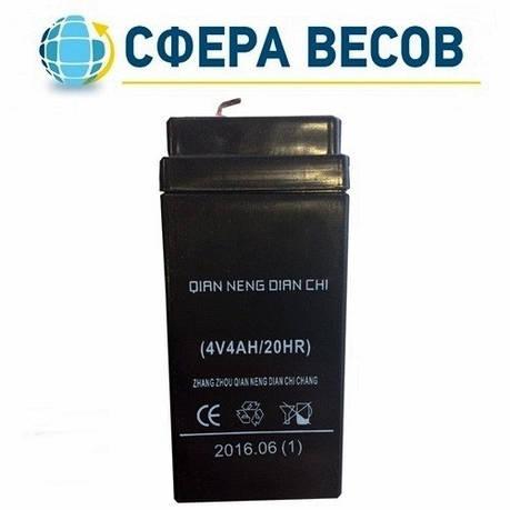 Аккумулятор для весов 4V, 4Аh, фото 2