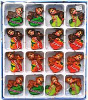 Магнит на холодильник Обезьянка с фруктами  16 шт/уп  R501-08