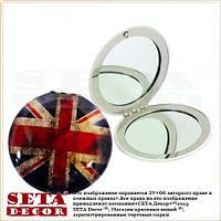 Зеркало карманное UK Union Jack раскладное, круглое