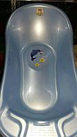 Ванночка детская с декором ТМ Алеана (голубой перламутр)
