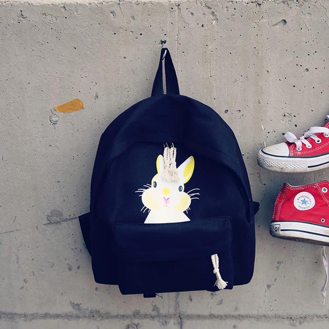 школьный рюкзак с зайкой