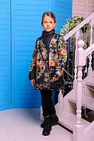 Демисезонное пальто  для девочки Дольче с сумочкой черное