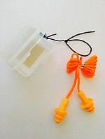 Беруши силиконовые для ушей на шнурке