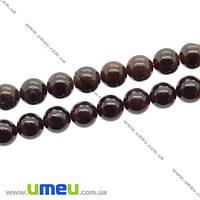 Бусина натуральный камень Гранат, 7 мм, Круглая, 1 шт (BUS-018410)