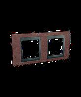 SHNEIDER ELECTRIC UNICA TOP Рамка двухмодульная горизонтальная Табак (Графит)