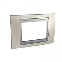 SHNEIDER ELECTRIC UNICA TOP Рамка трехмодульная Матовый никель (Алюминий)