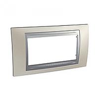 SHNEIDER ELECTRIC UNICA TOP Рамка четырехмодульная Матовый никель (Алюминий)