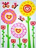 """Наклейка декор """"Бабочка и цветы"""""""