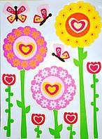 """Наклейка декор """"Бабочка и цветы"""", фото 1"""