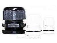 Кабельный ввод (Гермоввод) PG-07 / 6.4 мм  серый/черный (100шт.)