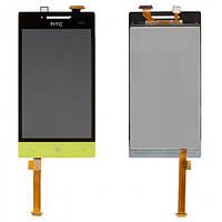 Дисплей (экран) для HTC Windows Phone 8S A620e + с сенсором (тачскрином) зеленый