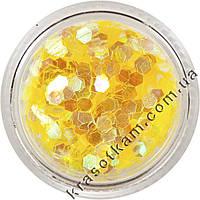 Кружочки-шестигранники прозрачно-лимонные