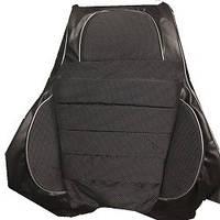 Чехлы модельные Pilot для Нива Тайга / кожзам черный + ткань темно- серая