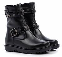 Зимние кожаные теплые ботинки для девочки, 27, 28, 29, 30 размер