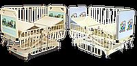 Дитяче ліжко із знімними спинками, з механізмом підйому платформи для матрацу НМ 2001 N