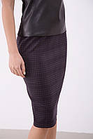 Женская деловая юбка-карандаш в клетку