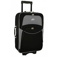 Чемодан сумка 773 (средний) черно-серый