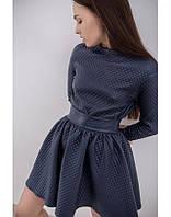 Женская модная кожаная юбка-клеш с высокой талией, фото 1