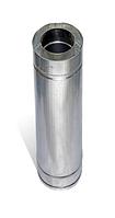 Димохідна труба нержавійка з теплоізоляцією в оцинковці L = довжина :0,5 м, Сталь : 1 мм Ø 100/160 мм
