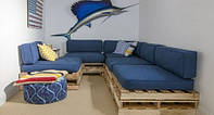 Подушка для мебели из паллет 120х40х5