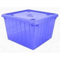 Емкость для хранения вещей с крышкой ТМ Алеана 25л. (фиолетовый-прозрачный)