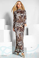 Женское вечернее леопардовое платье