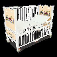 Дитяче ліжко із знімними спинками, вироблених із спресованого під високим тиском пластику HM 2001 Q