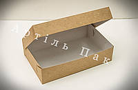 Коробочка для еклерів та зефіру 230*150*60 КРАФТ-КАРТОН