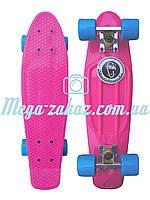 Скейтборд/скейт Penny Board Fish (Пенни борд Фиш): розовый, до 80кг, фото 1