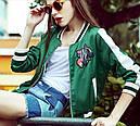 "Куртка бомбер ""Кактус"" зеленая , фото 3"