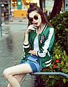 "Куртка бомбер ""Кактус"" зеленая , фото 4"