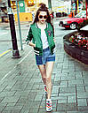 "Куртка бомбер ""Кактус"" зеленая , фото 5"