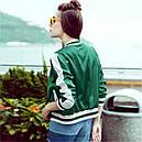 "Куртка бомбер ""Кактус"" зеленая , фото 2"